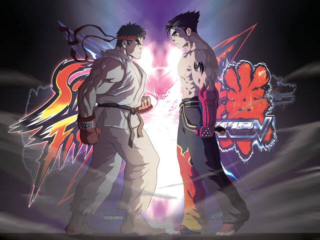 File:And-so-they-finally-clash-tekken-street-fighter-ryu-jin-kazama-lastscionz-chamba-jeffery-cruz.jpg