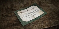 Old Birthday Card