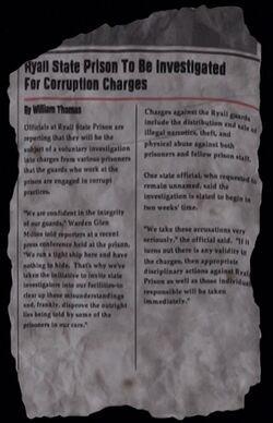 Newspaper Article (Corruption)