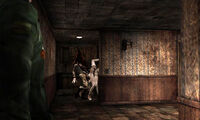Pyramid head and mannequins
