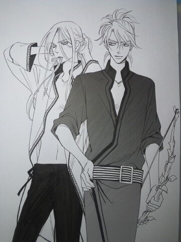 File:Tohji and Narushige wearing clothes that are different from usual.jpeg