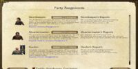 Party Assignments Screen