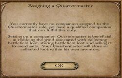 Assigning a Quartermaster - small