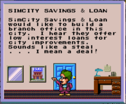 SimCity SNES Bank Unlock message
