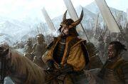 Fantasy battle samurai