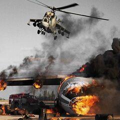 Norte Attack Helicopter destroys Brute Supply line