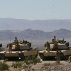 Four Universali Armored Vehicles after Air-Dropping