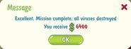 Viruses destroyed