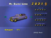 Mr. Burns' Limo - Phone Booth