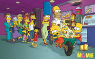 The Simpsons Movie Theater Poster