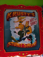 The Simpsons Ride Krusty's Stunt Show Poster