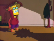 Bart standing by lisa's shadow