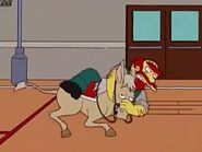 Willie tackles donkey
