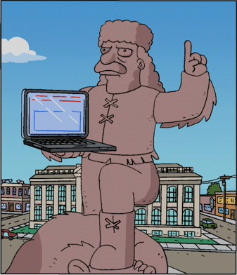 File:Jebediah Springfield statue with computer.jpg