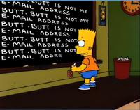 Butt.butt is not my e-mail address