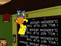 Bart flips chalkboard