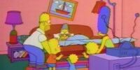 Sleeping Grampa couch gag