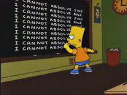 Simpsons Bible Stories Chalkboard Gag