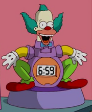Krusty the clown alarm clock