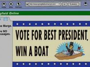 Vote for best president, win a boat