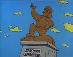 Statua jebediah springfield