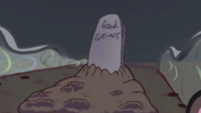 Frank Grimes Tombstone in Treehouse of Horror XXVI