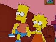 Lisa takes Bart upstairs