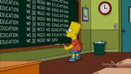 The D'oh-cial Network Chalkboard Gag