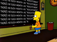 There's no such month as Rocktober