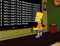 I will not file frivolous lawsuits