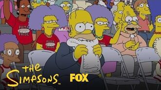 Homer Nervously Watches As Bart Plays Basketball Season 28 Ep. 16 THE SIMPSONS