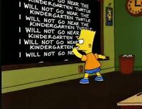 Chalk gag i will not go near the kidergarden turtle