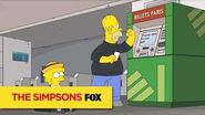 """THE SIMPSONS A Snap from """"To Courier with Love"""" ANIMATION on FOX"""