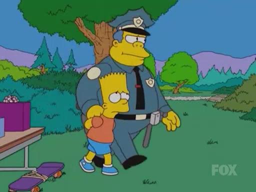 Image chief wiggum arresting bart jpg simpsons wiki fandom powered by wikia - Police simpsons ...