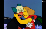 Hugging Krusty