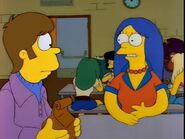 Young Marge and Homer