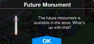 Future Monument message