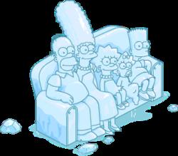 Ice Sculpture Couch Gag Scene Snow Menu