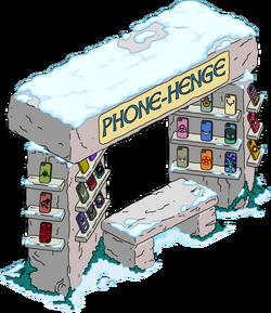 Phone-Henge Kiosk Snow Menu