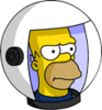 Deep Space Homer Annoyed Icon