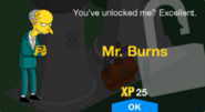 Tapped Out Mr. Burns New Character