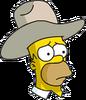 Cowboy Homer Sad Icon