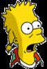 Mooch Bart Surprised Icon