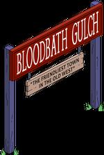 Bloodbath Gulch Sign Menu