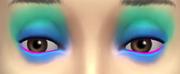 YfMakeupEyeshadow ThreeToneWild BlueAqua