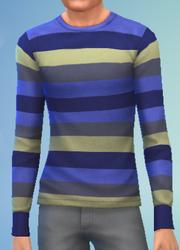 YmTop SweaterCrewBasicStripes StripesBlue