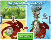 Sims Social - Medieval Week - Game Ad - The Great Dragon Tower