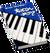 Book Skills Music Piano Blue