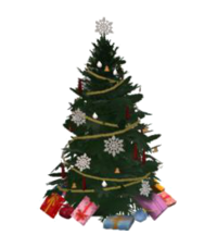TS3 Christmas tree transparent