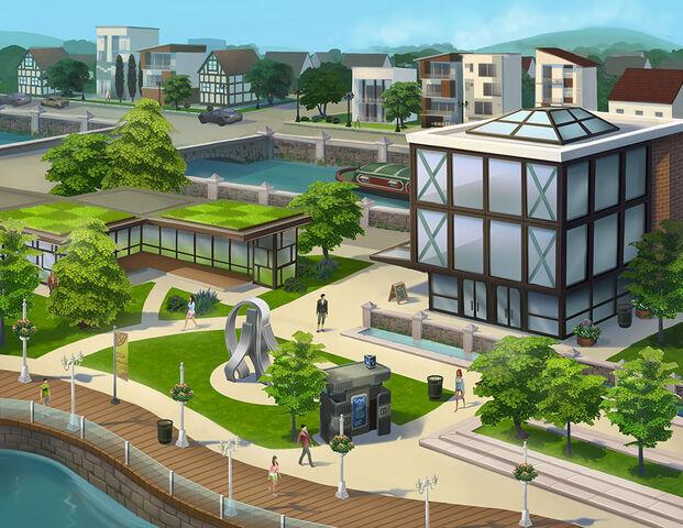 File:Modern Downtown concept art.jpg